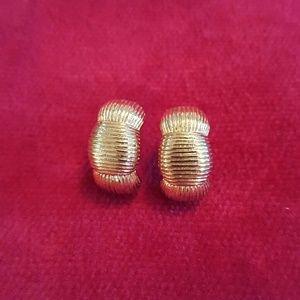 Jewelry - ❤3 for $15! Brilliant golden half-hoop earrings